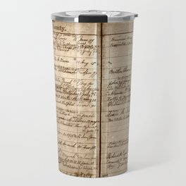 Post Office Postmaster Appointments Antique Paper Travel Mug