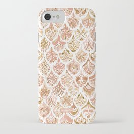 PAISLEY MERMAID Rose Gold Fish Scales iPhone Case