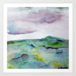 """""""337"""" abstract watercolor landscape Art Print"""
