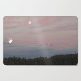 Mount Rainier Moon Rise Cutting Board