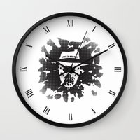 rorschach Wall Clocks featuring Rorschach by Vickn