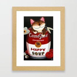 Happy Soup Framed Art Print
