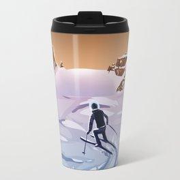 Skiing on Mars Travel Mug