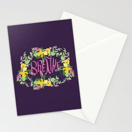 Floral Inspirational Quote Illustrated Print Stationery Cards