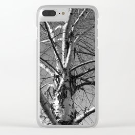 Simple Birch Clear iPhone Case