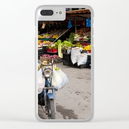 Shopping in Tirana Clear iPhone Case