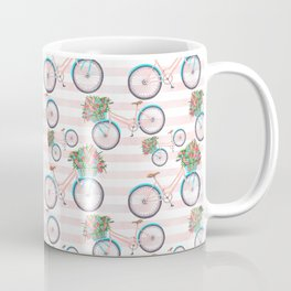 Bicycle with Flowers Painting Coffee Mug