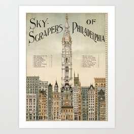 Vintage poster - Philadelphia Art Print