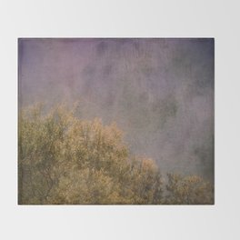 Abstract trees Throw Blanket
