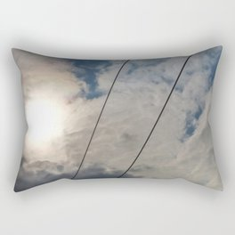 clouds and wire, abstract, no.02 Rectangular Pillow