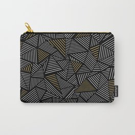 Ab Linear with Gold Repeat Carry-All Pouch