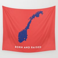 norway Wall Tapestries featuring Norway by Hunter Ellenbarger