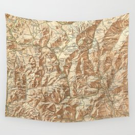 Vintage Map of The White Mountains (1937) Wall Tapestry