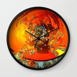 quantum bubblebath Wall Clock