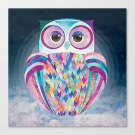 Shanti Sparrow: Luna the Owl Canvas Print