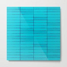 Blue Stone Tiles Texture Metal Print