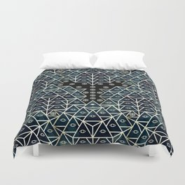 Sacred Geometry for your daily life - DARKIE YOGA ROCKET Duvet Cover