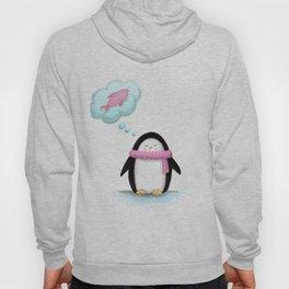 I dream of food -Penguin Illustration Hoody