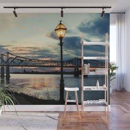 Mississippi River Bridge Natchez Wall Mural