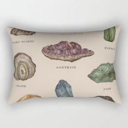 Gems and Minerals Rectangular Pillow