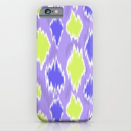 abstract Ikat inpired purple and green  iPhone Case