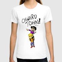 onward T-shirts featuring Onward John! by Rebekah Kroeplin