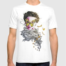 Metamorphosis  MEDIUM White Mens Fitted Tee
