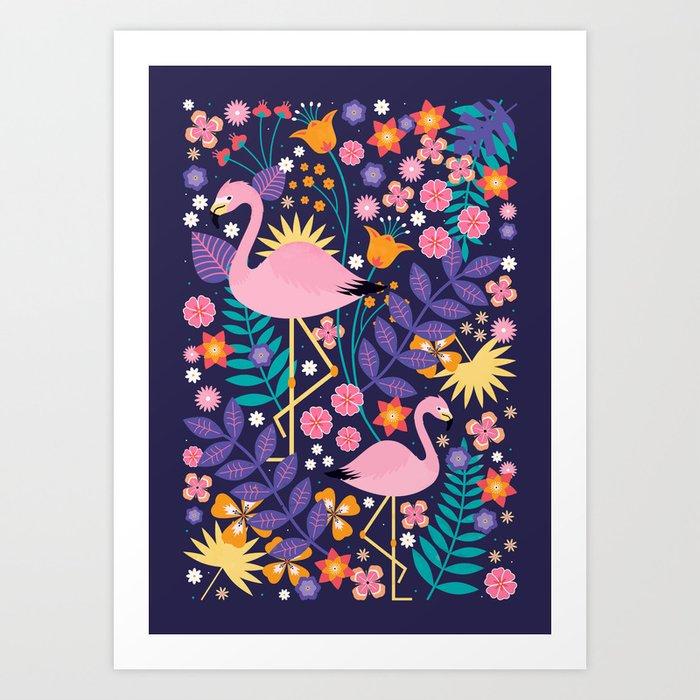 Flamingo Tropical Kunstdrucke