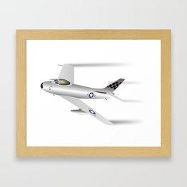 Air Force F-86 Sabre Jet Fighter Framed Art Print