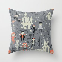 Love shack monsters halloween party Throw Pillow