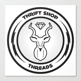 Thrift Shop Threads Button_Kudu Canvas Print