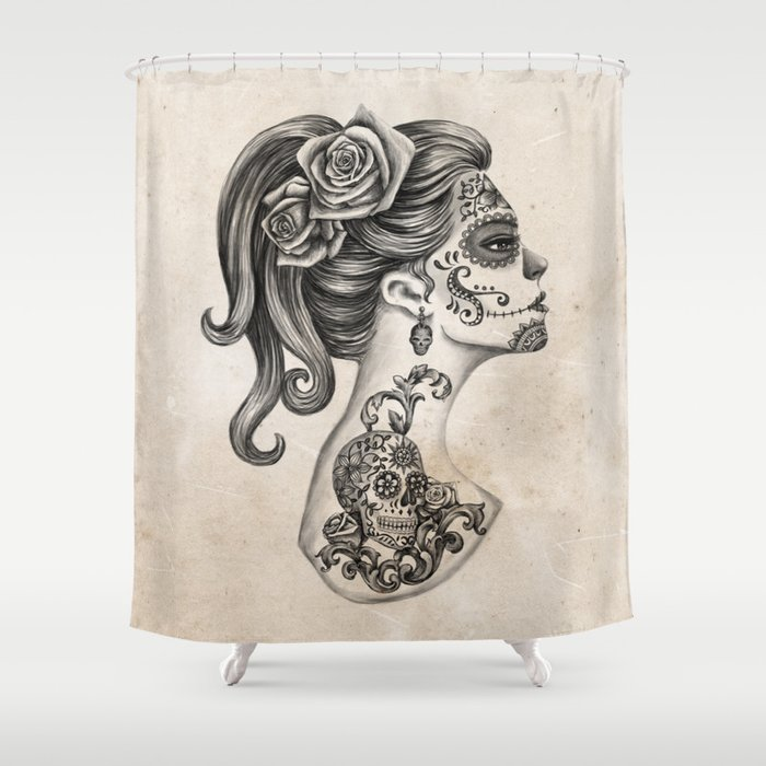 Day Of The Dead Girl Shower Curtain