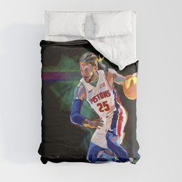 Detroit Basketball Star D. Rose / Slam Dunk / Art Print Comforters