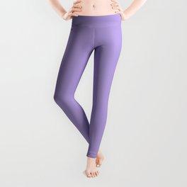 Light Chalky Pastel Purple Solid Color Leggings