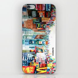 Times Square, New York City - Landscape Watercolour Painting iPhone Skin