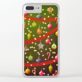 Look at these Christmas decorations! Clear iPhone Case