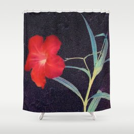 Breezy Rustic Red Flower Shower Curtain