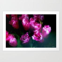 Tulips in Motion Art Print