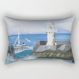 The Brixham Trawler Rectangular Pillow