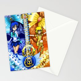 Sailor Mew Guitar #18 - Sailor Mercury & Mew Pudding Stationery Cards