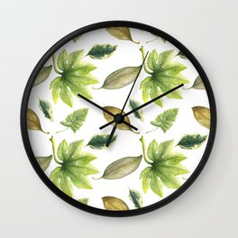 Savannah Leaves Wall Clock