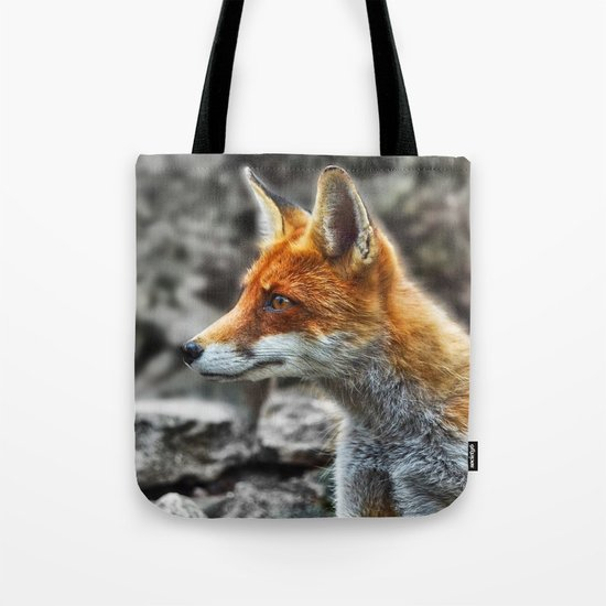 Friendly fox wildlife portrait Tote Bag