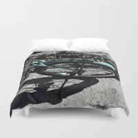 bike Duvet Covers featuring bike by gzm_guvenc