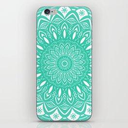 Minimal Aqua Seafoam Mint Green Mandala Simple Minimalistic iPhone Skin