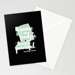 Frankenstein + Mary Shelley Quote #1 + Black Stationery Cards