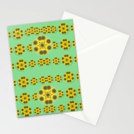 Sun flowers for the soul at peace Stationery Cards