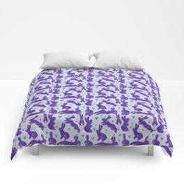 Bunny love - Purple Carrot edition Comforters