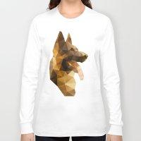 german shepherd Long Sleeve T-shirts featuring The German Shepherd by Ed Burczyk