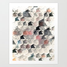 as the curtain falls (variant) Art Print
