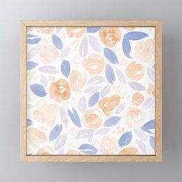 Floral Pattern #2 | Peach Lilac Palette Framed Mini Art Print
